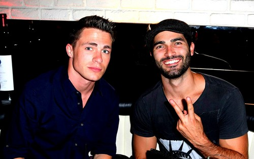 Colton Haynes and Tyler