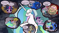 Comic: Celestia's nightmare - my-little-pony-friendship-is-magic photo