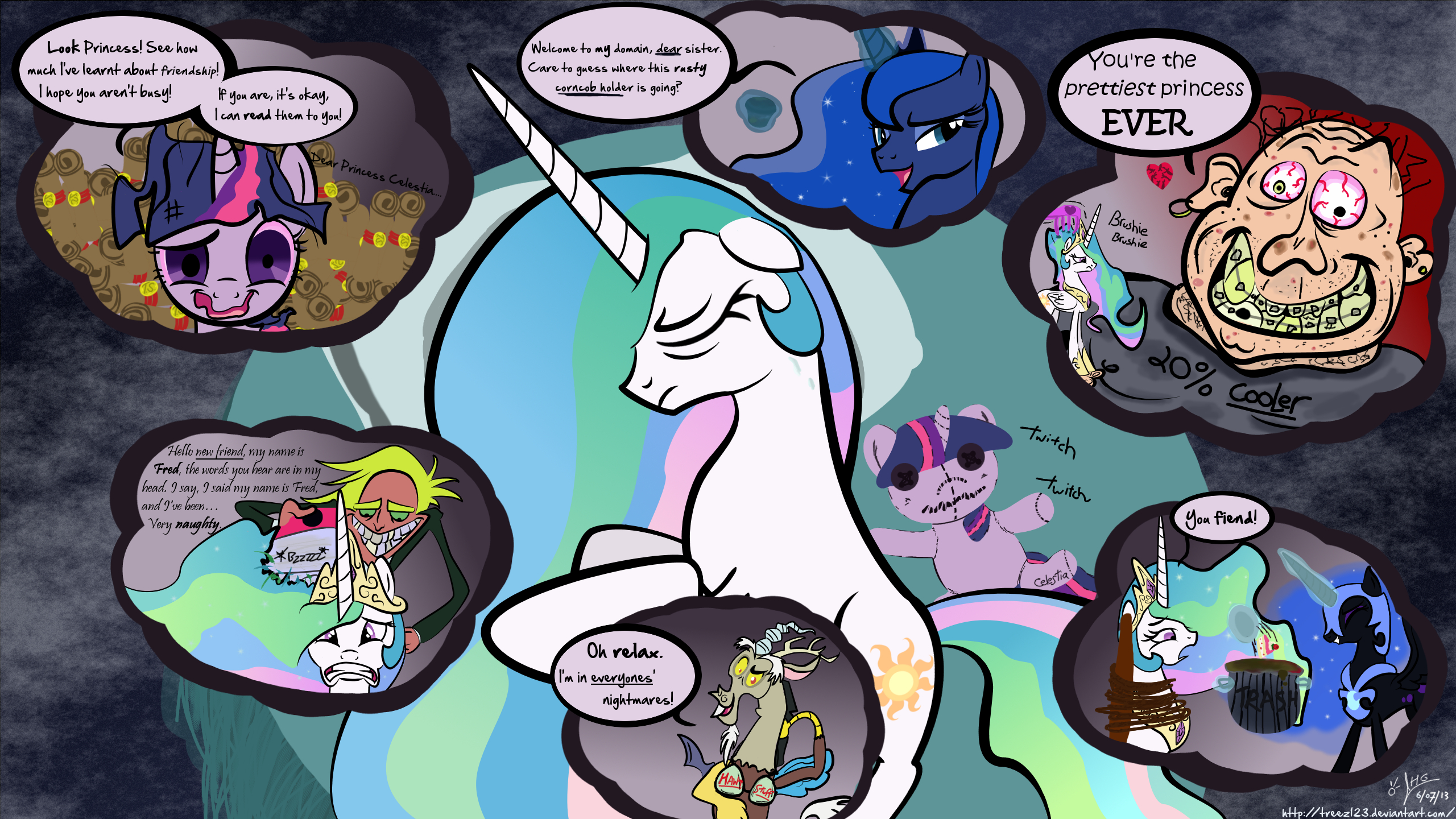Comic: Celestia's nightmare