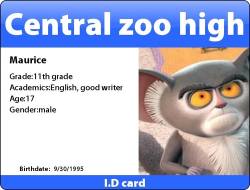 Corpse party I.D card:Maurice