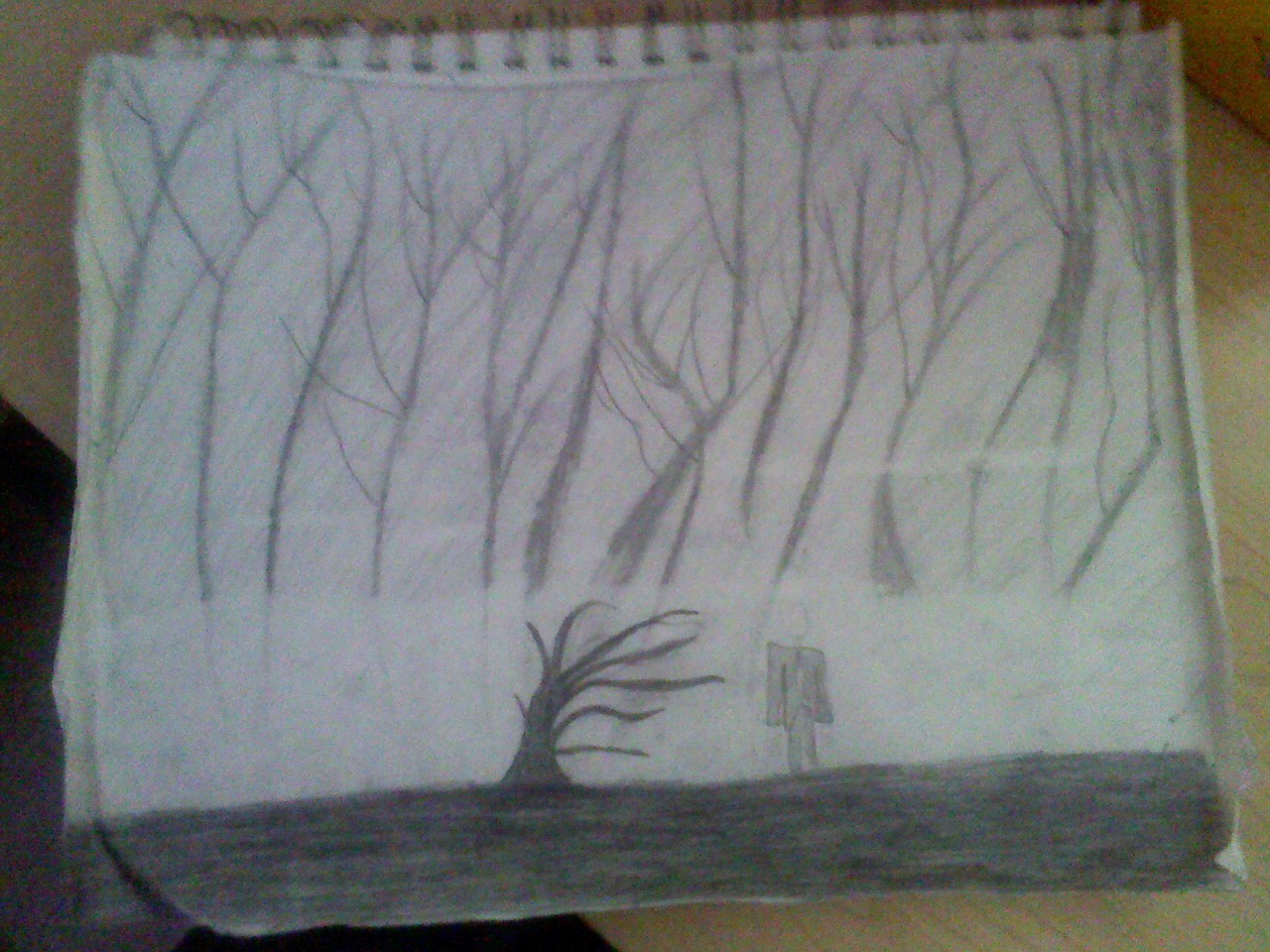 Drawing Images Creepy Forest Hd Wallpaper And Background