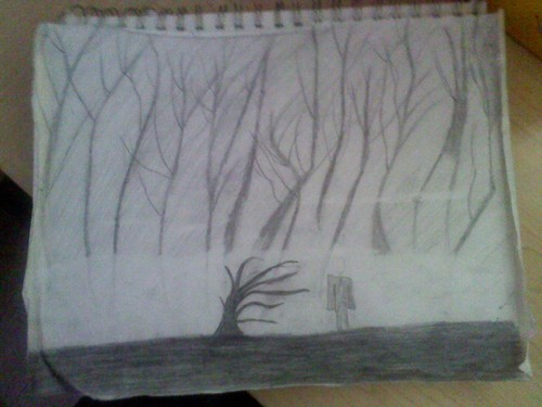 Creepy forest - drawing Photo