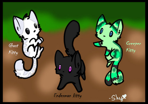 Cute minecraft Mob Kitties!
