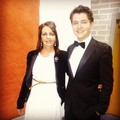 Damian n his Mom at Phil Coulters gig at RTE - damian-mcginty photo