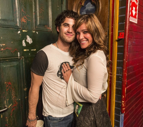 Darren Criss and Mia Swier backstage at House of Blues