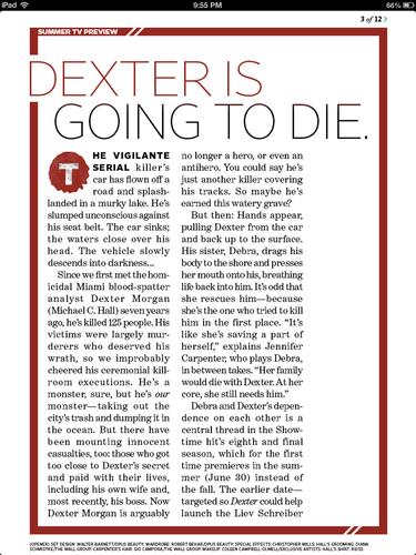 ডেক্সটার - Season 8 - EW Magazine Scans