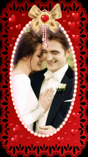 Romantic Male Characters wallpaper titled Edward and Bella Cullen