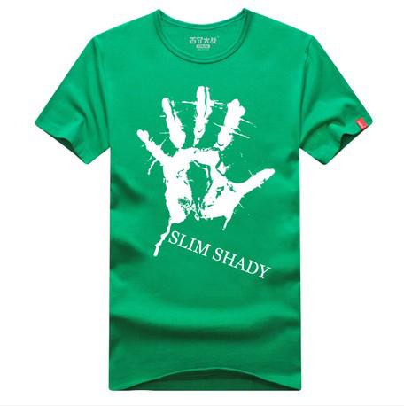 eminem SLIM SHADY hand logo short sleeve t camisa, camiseta