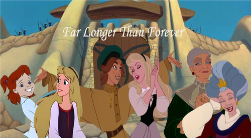 Disney crossover karatasi la kupamba ukuta titled Far Longer Than Forever