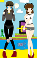Fem!Deadlox and Fem!Sky - skydoesminecraft fan art