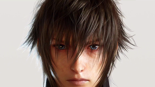 Final Fantasy XV achtergrond with a portrait titled Final Fantasy XV