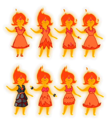 Flame Princess' Dress Designs - gewölbe, tresor of Bones