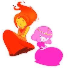 Flame Princess and Princess Bubblegum