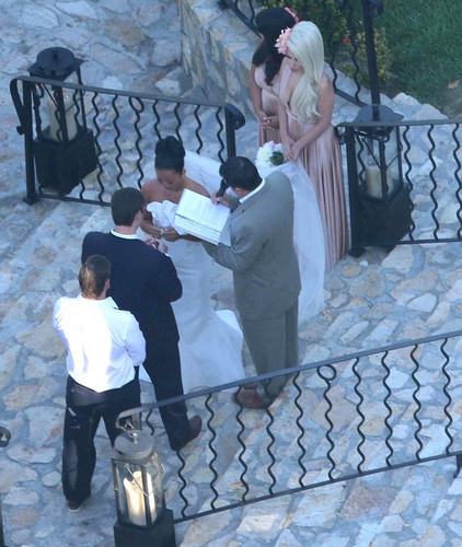 Gaga at her friend Bo's wedding in Mexico