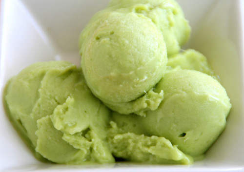 Green Avocado Ice-Cream
