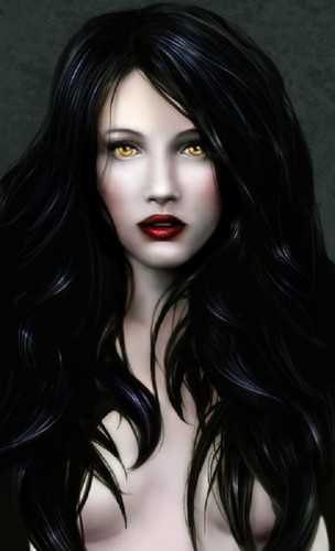 Vampires wallpaper probably with a portrait titled HAIR VAMPIRE