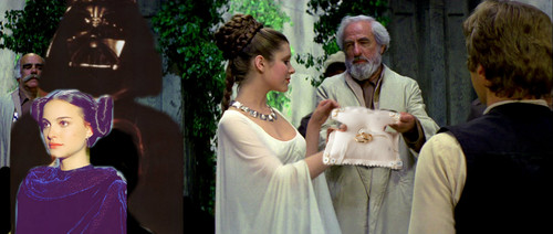 Han and Leia's wedding