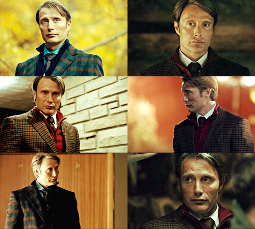 Dr. Lecter and his fabulous wardrobe & hair in Protege