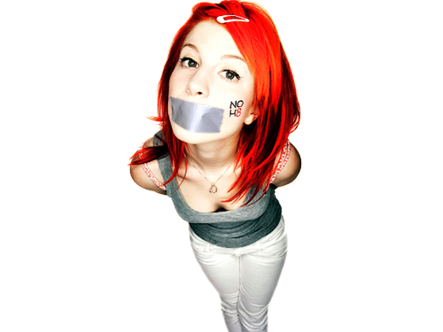 Paramore wallpaper titled Hayley NO H8 campaign