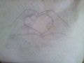 Heart hands - drawing photo