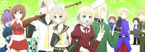 Hetalia wallpaper called Hetalia Vocaloid Crossover