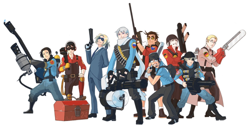 hetalia - axis powers TF2 crossover