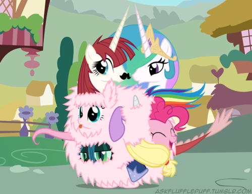 How many ponies can hide in Fluffle Puff's fur?