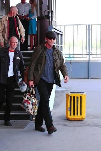 Hugh Laurie arriving St. Petersburg 2013
