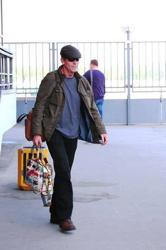 Hugh Laurie arriving St. Petersburg 2013