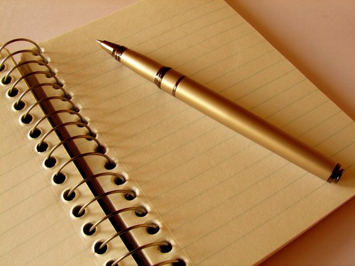 I write my دل on a paper