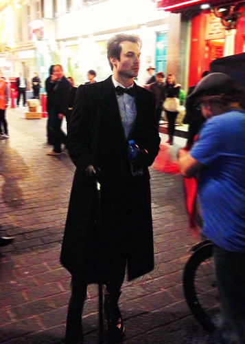 "Ian on set of ""The Anomaly"""
