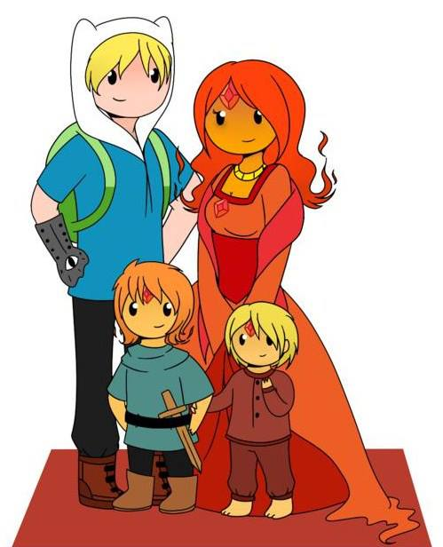 Adventure Time With Finn and Jake If They Had Kids   Flame Princess And Finn Kids