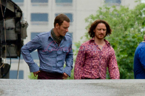 James & Michael on set of X-Men: Days of Future Past