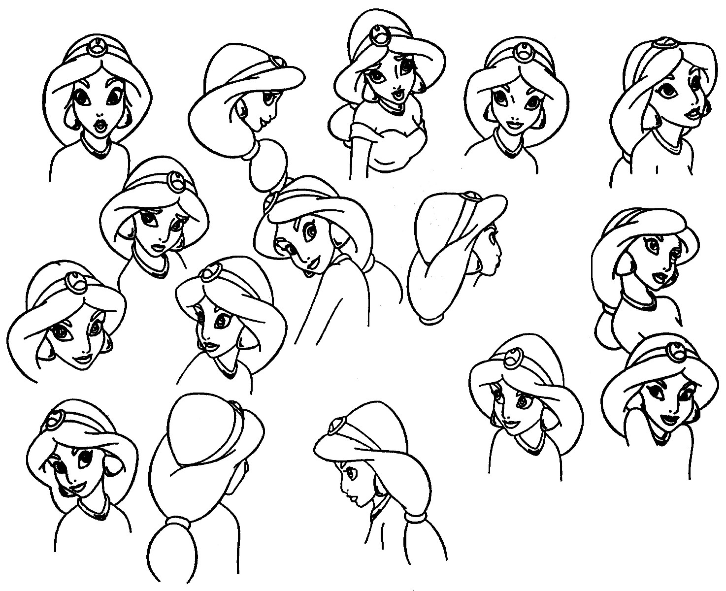 Jasmine Model Sheet Disney Princess Fan Art 34615575 Fanpop
