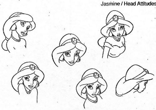 ジャスミン Model Sheet