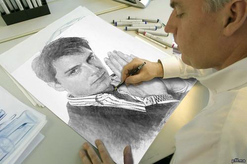 John Barrowman drawing