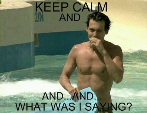 Johnny Depp wallpaper with swimming trunks and a hunk titled Johnny <3