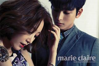"Jung Jinwoon & Go Jun Hee for ""Marie Claire"" 2013"