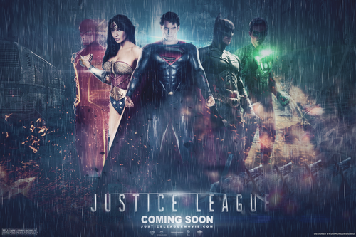 Justice League Обои probably with a концерт and a фонтан called Justice League (Fan Made) Обои