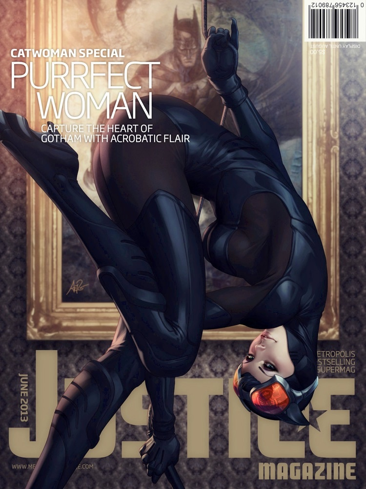 Female comic book heroes images justice magazine issue 2 catwoman hd