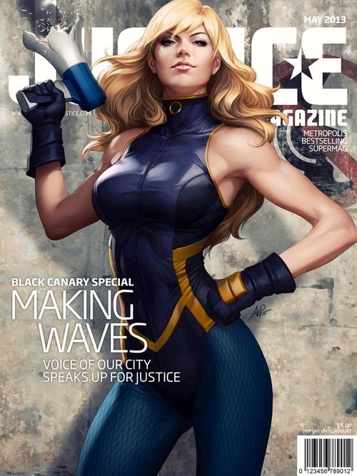 fe89eb65a0e Justice Magazine issue 4: Black Canary - Female Comic Book Heroes ...
