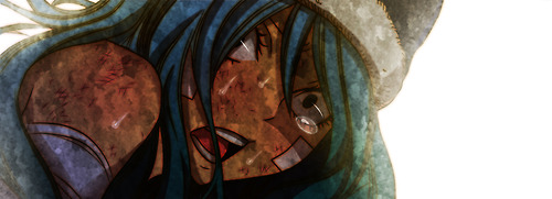 Juvia crying