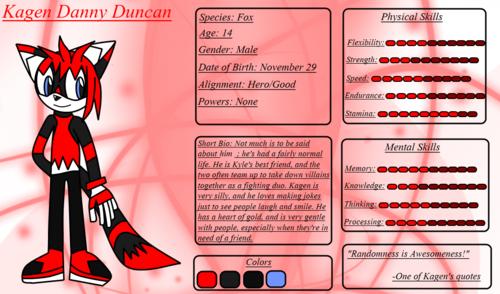 Kagen Danny Duncan (Reference sheet)