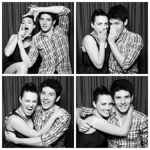 Katie and colin SDCC 2012 photobooth