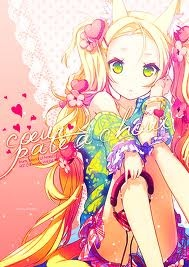 kawaii anime fondo de pantalla containing anime called Kawaii girl!
