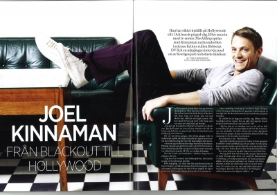 Joel Kinnaman Обои probably containing a sign titled LADIES WORLD (SWEDEN) - JULY 2012