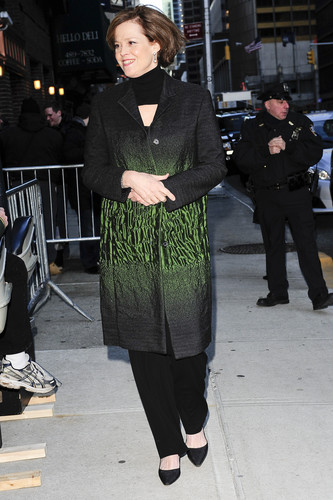 Late toon with David Letterman 2010