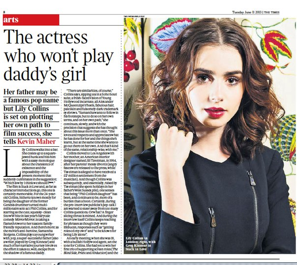 """Lily for """"The Times"""" UK [July 2013]"""