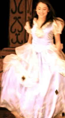 Ariana Grande wallpaper possibly with a hoopskirt and a polonaise called Little Ariana