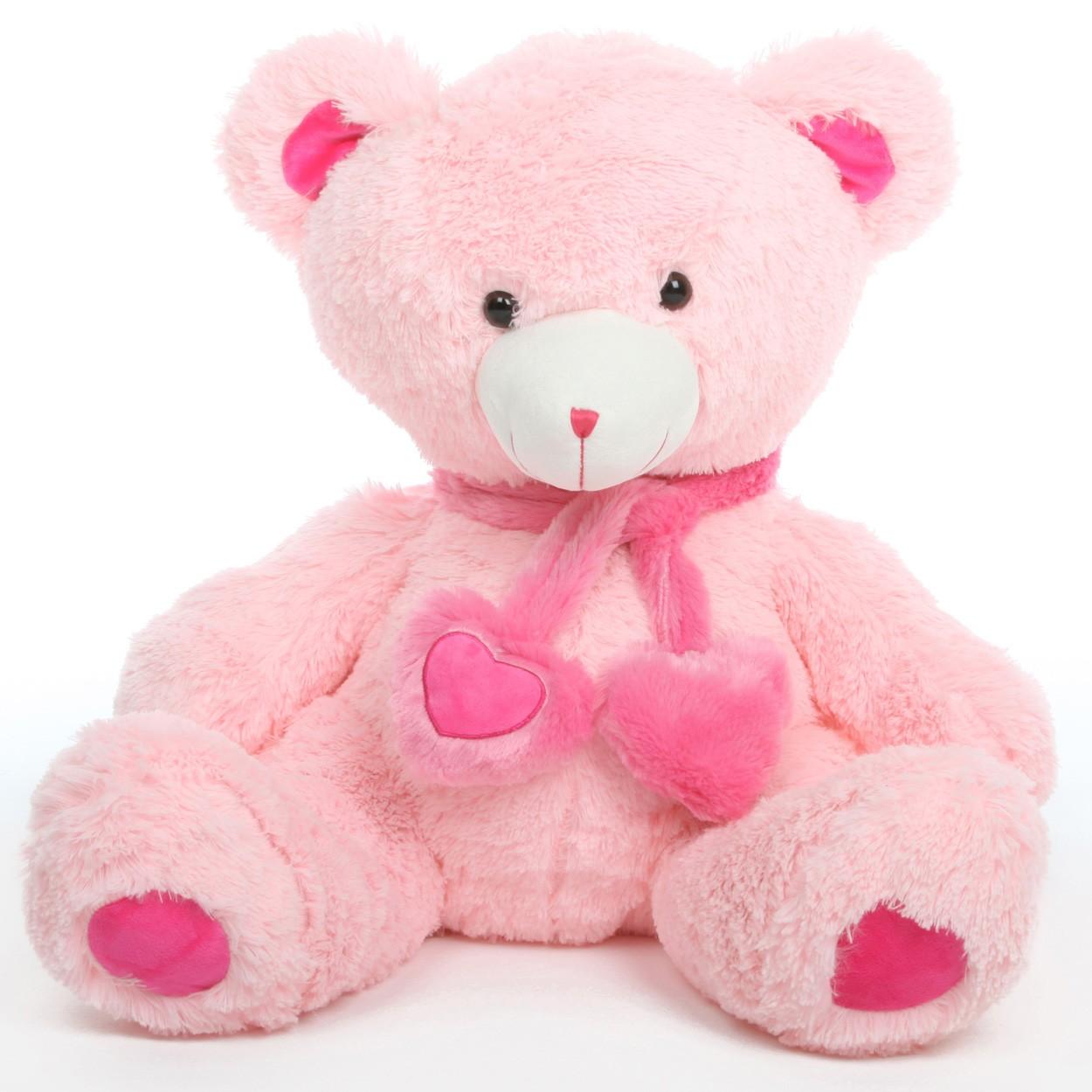 Pink cute teddy bear wallpapers - photo#8